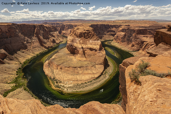 Horseshoe Bend Canvas Print by Pete Lawless
