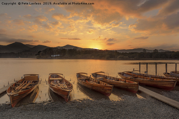 Derwent Water Sunset Canvas Print by Pete Lawless