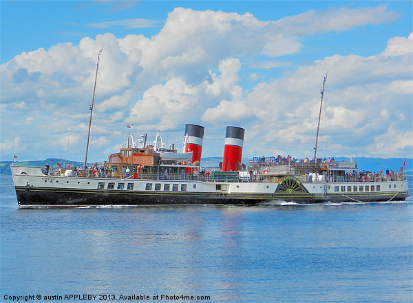 WAVERLEY AT LARGS Canvas print by austin APPLEBY