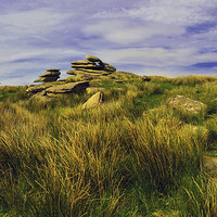 Buy canvas prints of CHEESEWRING BODMIN MOOR CORNWALL by austin APPLEBY