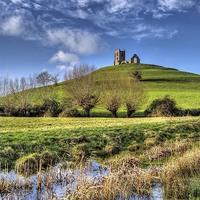 Buy canvas prints of  Burrow Mump Burrowbridge Somerset Levels by austin APPLEBY