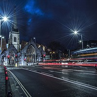 Buy canvas prints of Light Trails Charles Church Plymouth by austin APPLEBY