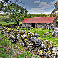 Buy canvas prints of Emsworthy Barn Dartmoor by austin APPLEBY