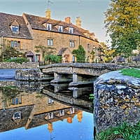 Buy canvas prints of Lower Slaughter Ford Reflections by austin APPLEBY