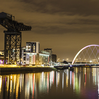 Buy canvas prints of  Clydeside By Night by Alex Millar