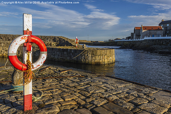 Portsoy Harbour Canvas print by Alex Millar