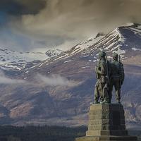 Buy canvas prints of  Commando Memorial by Alex Millar