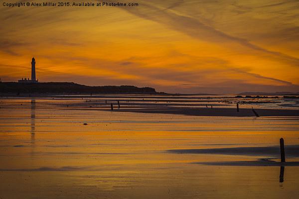 West Beach Sunset Canvas print by Alex Millar