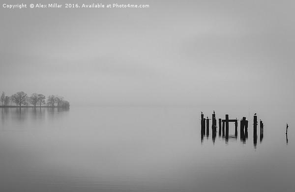 Mist on the Loch Canvas print by Alex Millar