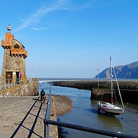 Buy canvas prints of         Lynmouth Harbour            by Jane Metters