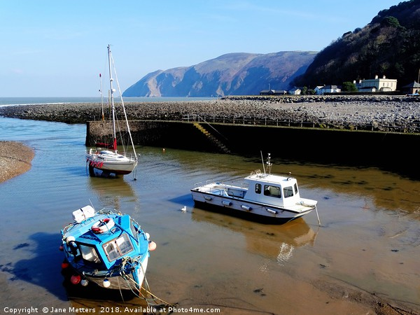 Lynmouth Harbour  Canvas print by Jane Metters