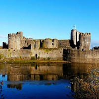 Buy canvas prints of           Caerphilly Castle                      by Jane Metters
