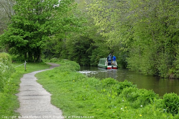 Brecon Canal Path Canvas print by Jane Metters