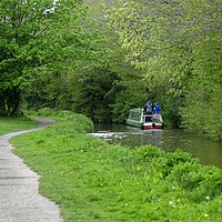 Buy canvas prints of Brecon Canal Path by Jane Metters