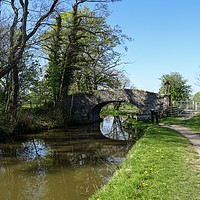 Buy canvas prints of Bridge over the Canal by Jane Metters