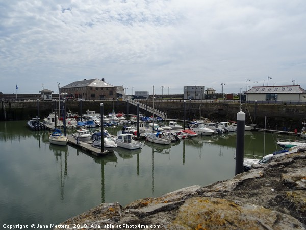 Porthcawl Harbour  Canvas print by Jane Metters