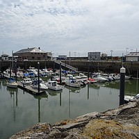 Buy canvas prints of Porthcawl Harbour  by Jane Metters