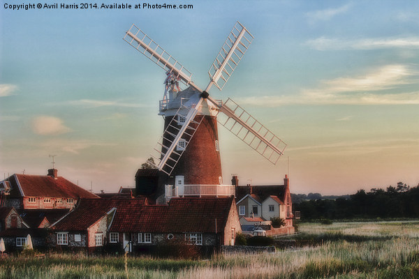 Cley windmill Norfolk Framed Mounted Print by Avril Harris