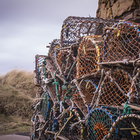 Buy canvas prints of Lobster Pots by George Davidson